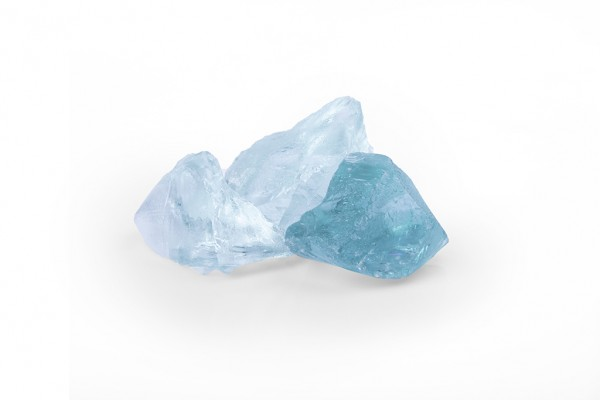 Glasgabionenstein | Glas Turquoise | Körnung 50-120 mm