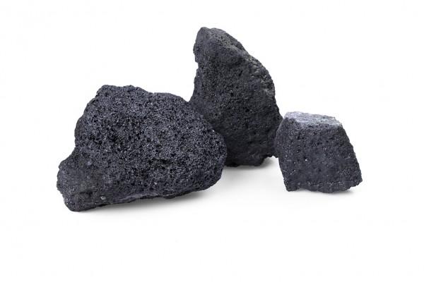 Gabionenstein | Lava schwarz GS | Körnung 80-150 mm