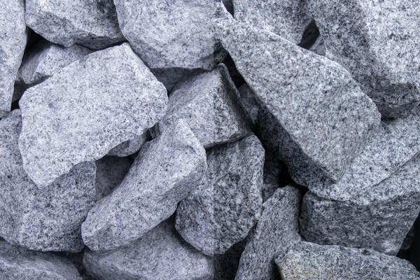 Steinschlag | Granit Grau | Körnung 32-56 mm