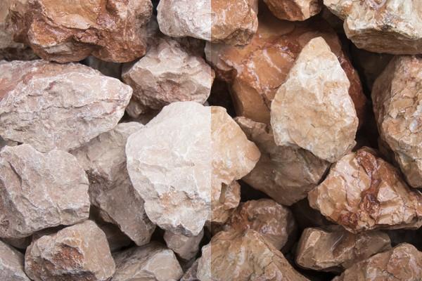 Steinschlag | Marmor Orange | Körnung 30-60 mm