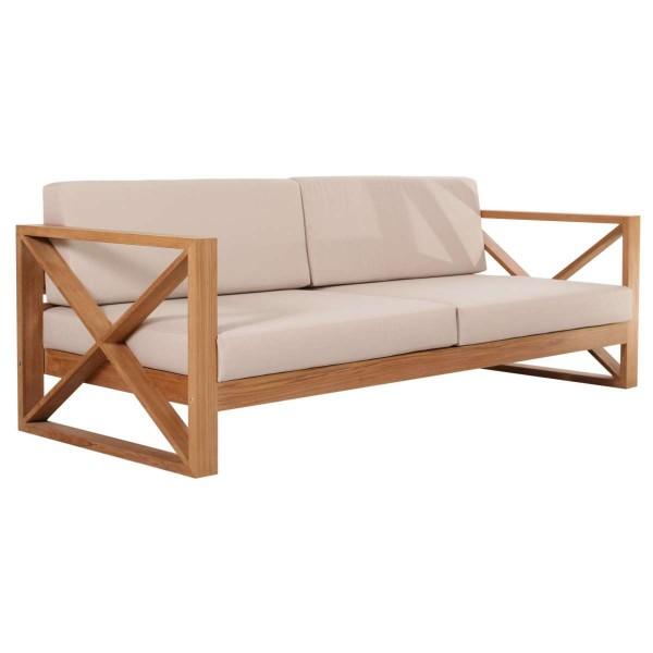 Outdoor Sofa Molveno 3-Sitzer Teak Massivholz | Teako Design