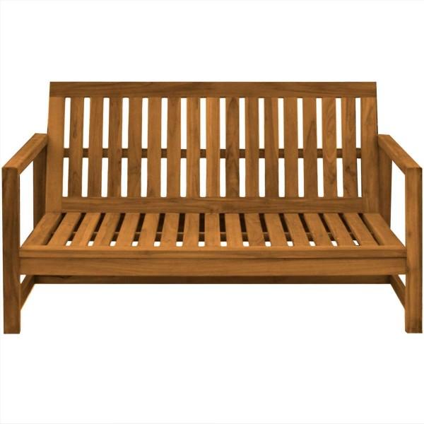 Outdoor Sofa Udine 3/4-Sitzer Teak Massivholz 180 cm | Teako Design