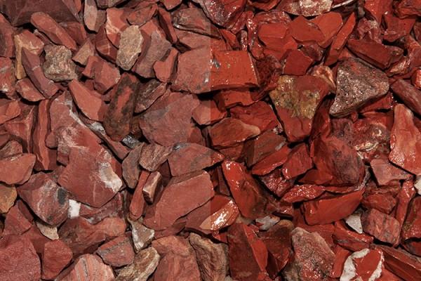 Edelsplitt | Red Jaspis Splitt | Körnung 10-30 mm