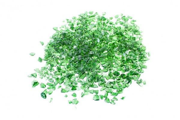 Glassplitt Green | Körnung 5-10 mm