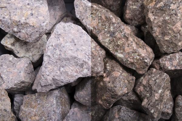 Steinschlag | Roter Porphyr | Körnung 32-56 mm