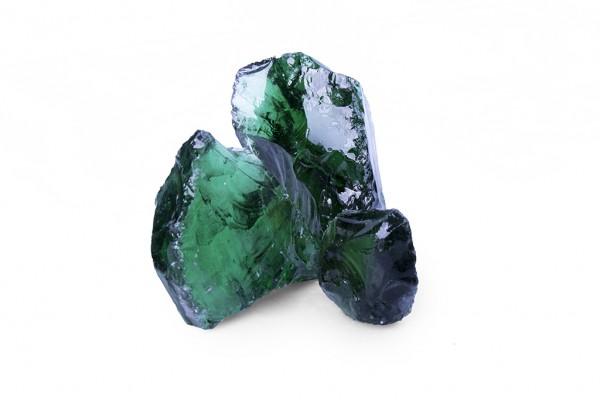 Glasbrocken | Glas Green | Körnung 100-300 mm